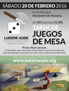 QUEDADAS DE JUEGOS DE MESA EN EL ALBERGUE.